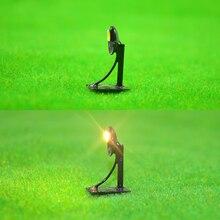 10pcs scale model light warm for building train garden streent scene diorama landscape layout metal child toys