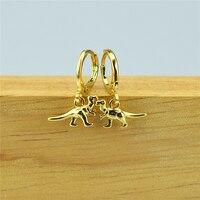 2021 neue galvanik AAA miniatur kleine intarsien nette tiere dinosaurier Ohrringe Schmuck frauen geschenke männer geschenke