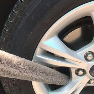 Image 4 - Çok fonksiyonlu uzun saplı araba fırça motor temizleme fırçası bükülebilir tekerlek fırçası araba temizleme oto yıkama araba detaylandırma