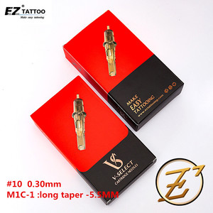 Image 2 - EZ V בחר קעקוע מחסנית מחטים #10 0.30mm מעוקל מגנום עם אלסטי קרום & מדויק מיצוב מערכת 20 יח\קופסא