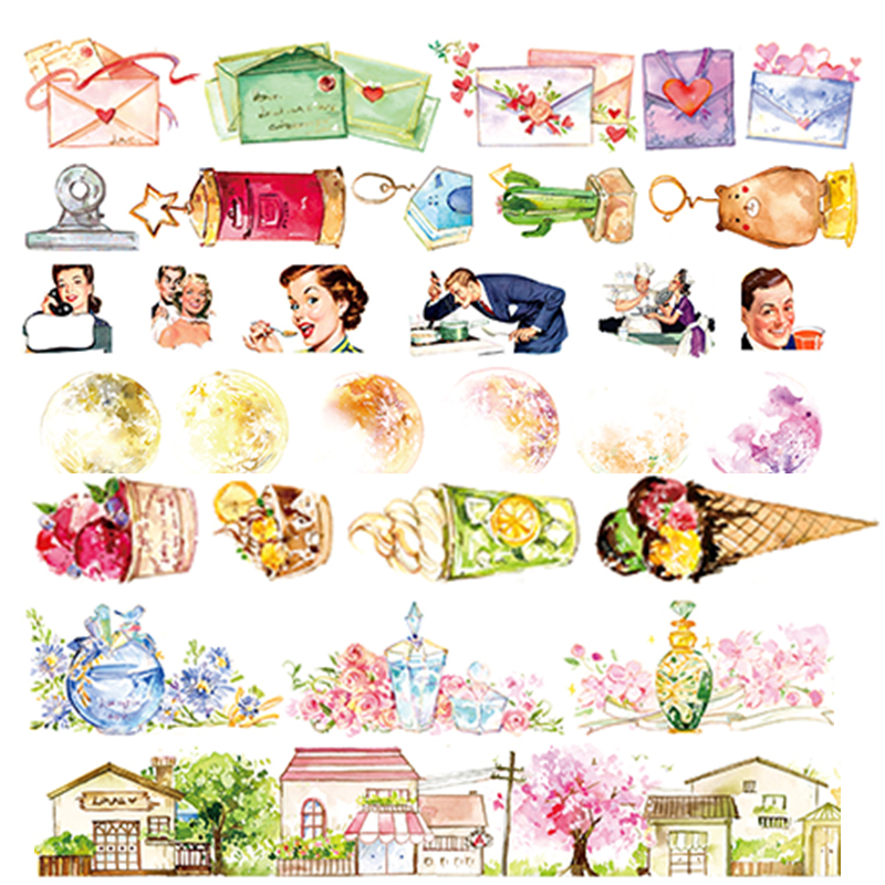 1 Pcs Washi Tapes DIY Japanese Paper Cartoon Teenage Life Masking Tape Decorative Adhesive Tapes Scrapbooking Stickers