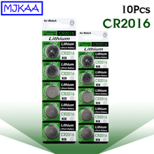 10Pcs CR2016 3V Lithium Button Batteries LM2016 BR2016 DL2016 Cell Coin Battery 3 V CR 2016 for Watch Electronic Toy Remote стоимость