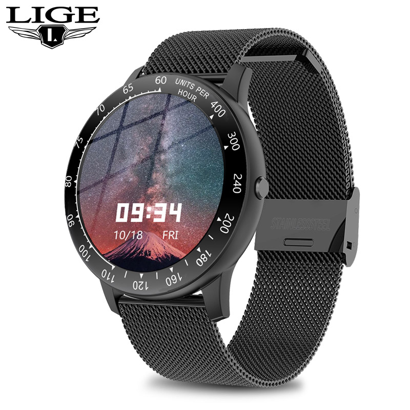 LIGE 2020 New Full Touch Smart Watch Women men Waterproof Sport for Android iPhone Call information smartwatch For woman mens