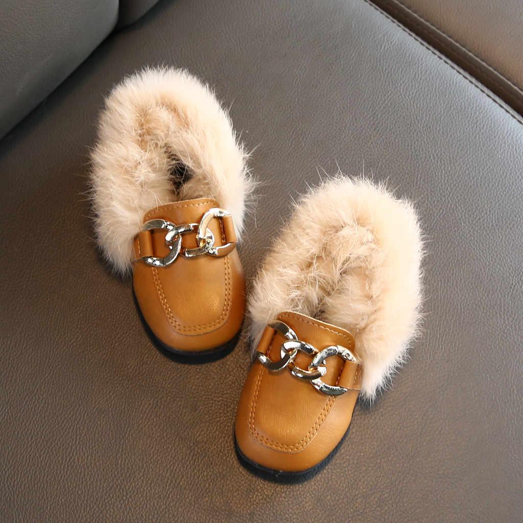 Peuter Laarzen Infant Kids Baby Meisje Laarzen Jongens Casual Winter Warm Harige Harige Schoenen Laarzen Детская Обувь Zapatos De Nina sapatos
