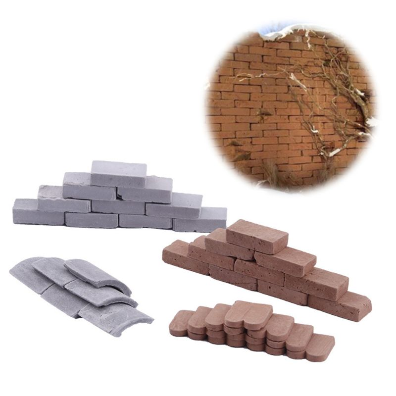 100/80 Pc 1/16 1/35 Miniature Brick Tiles Scene Model DIY Sand Table Manual Wall
