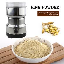 220V Coffee Grinder Multifunctional Stainless Steel Electric Mini Coffee Bean Nut Mill Kitchen Tools Grains Hebals Crusher 400w electric coffee grinder mini grains spices hebals cereals coffee dry food grinder mill grinding machine kitchen appliance
