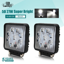 CO LIGHT 5D Led Work Light Bar 27W 4inch Offroad Car Headlight for Trucks Tractor Boat Trailer 4x4 SUV Driving 12V 24V