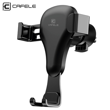 CAFELE Gravity Car Holder in Car Air Vent Clip Mount For Phone No Magnetic Mobile Phone Holder GPS Stand For iPhone 11 Pro image