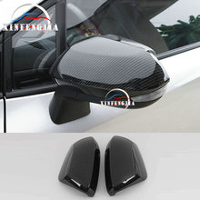 For Toyota Corolla 2020 2* Carbon Fiber Color Side Mirror Wing Mirrors Rear view Mirror Decorate Cover Trim