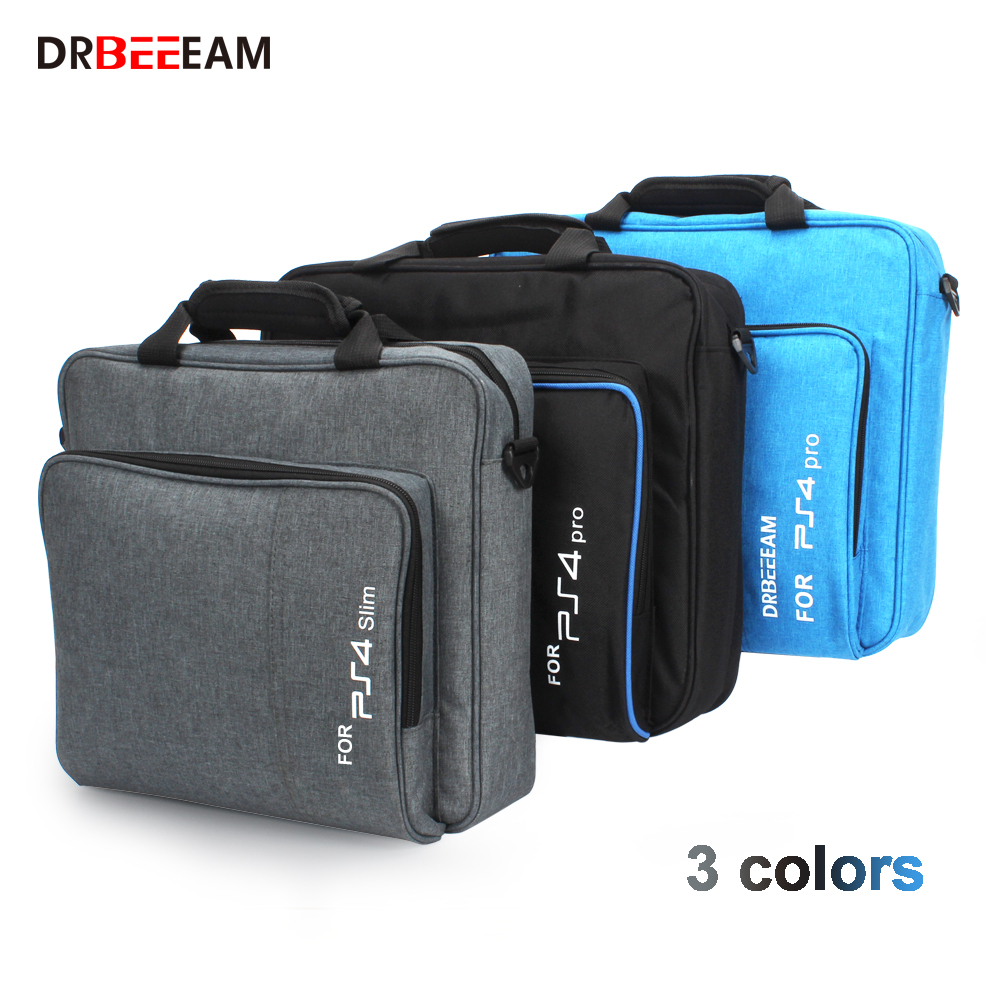 For PS4 / PS4 Pro Slim Game Sytem Bag Original size For PlayStation 4 Console Protect Shoulder Carry Bag Handbag Canvas Case