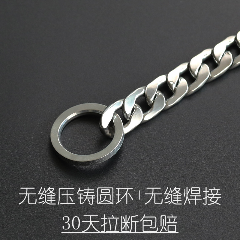P Pendant Neck Ring Dog In Large Lanyard Stainless Steel Small Traction Dog 304 Chain Dog Horse Dog Collar Snake Chain Non-Exten