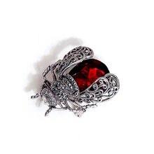 Kingdeng inseto broches feminino acessórios de natal jóias esmalte pino na moda broche jóias presentes de luxo para homens lapela pinos