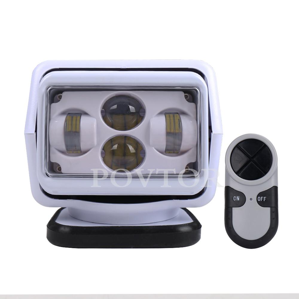 LED Searchlight For Marine Off-Road Vehicles 4X4 ATV SUV UTV Truck 1 Set Wireless Remote Control Spotlight