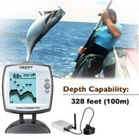 낚시 수중 음파 탐지기 센서 Fishfinder 45도 에코 LCD 물고기 탐지기 보트 Fishfinder 물고기 탐지기