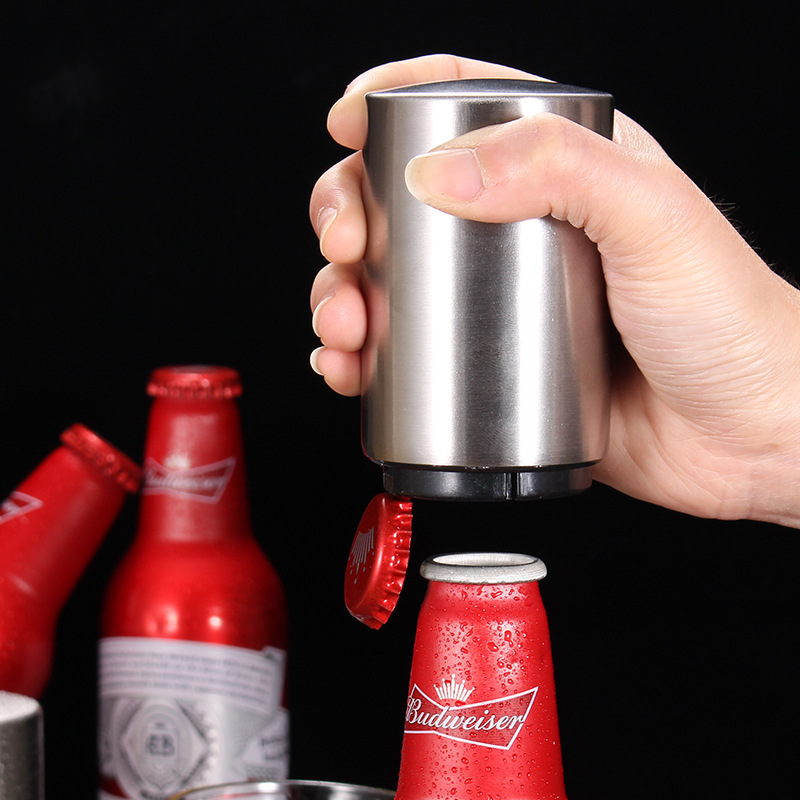 Automatic Magnetic Beer Openers Kitchen Stainless Steel Bottle Opener Beer Opener Bar Wine Opener Tool
