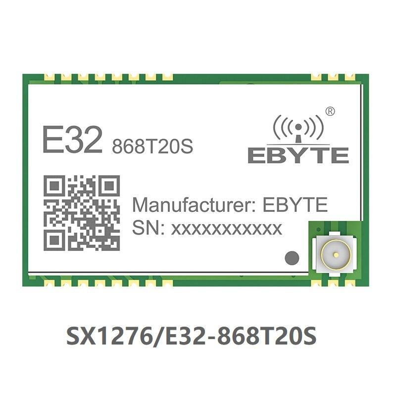 E32-868T20S SX1276 LoRa 868MHz 100mW SMD беспроводной приемопередатчик 868 mhz Модуль TTL Дальний диапазон IPEX передатчик и приемник