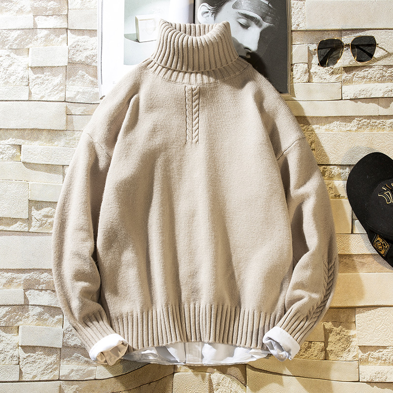 NEW Turtleneck Sweater Men Solid Christmas Knitted Sweater Men Turtle Neck Men's Turtleneck Sweater Male Pullover 2019 Winter
