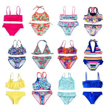 Children's Swimwear | Two Piece Flamingo Swimsuit For Girls  1