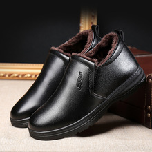 New Handmade Men Genu Leather Winter Boots High Quality Snow