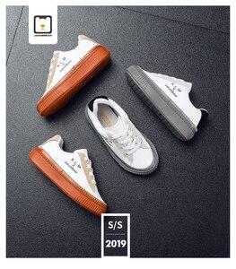 Image 1 - JAKOBBEAR Kids Cattle Leather Shoes for Girls Boys Children Autumn Winter Spring