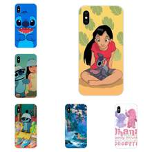 TPU Silicone macio Transparente Protetor de Tela Para Apple iPhone 4 4S 5 5C 5S SE 6 6S 7 8 mais X XS Max XR Anied Lilo E Stitch(China)