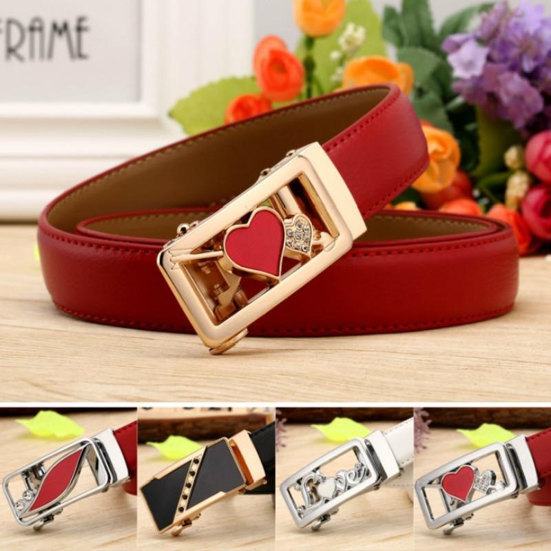 Women Belts For Women's Jeans Fashion Buckle Waist Leather Strap High Quality Designer Strap Belt Cinturon Mujer Cowskin Belt