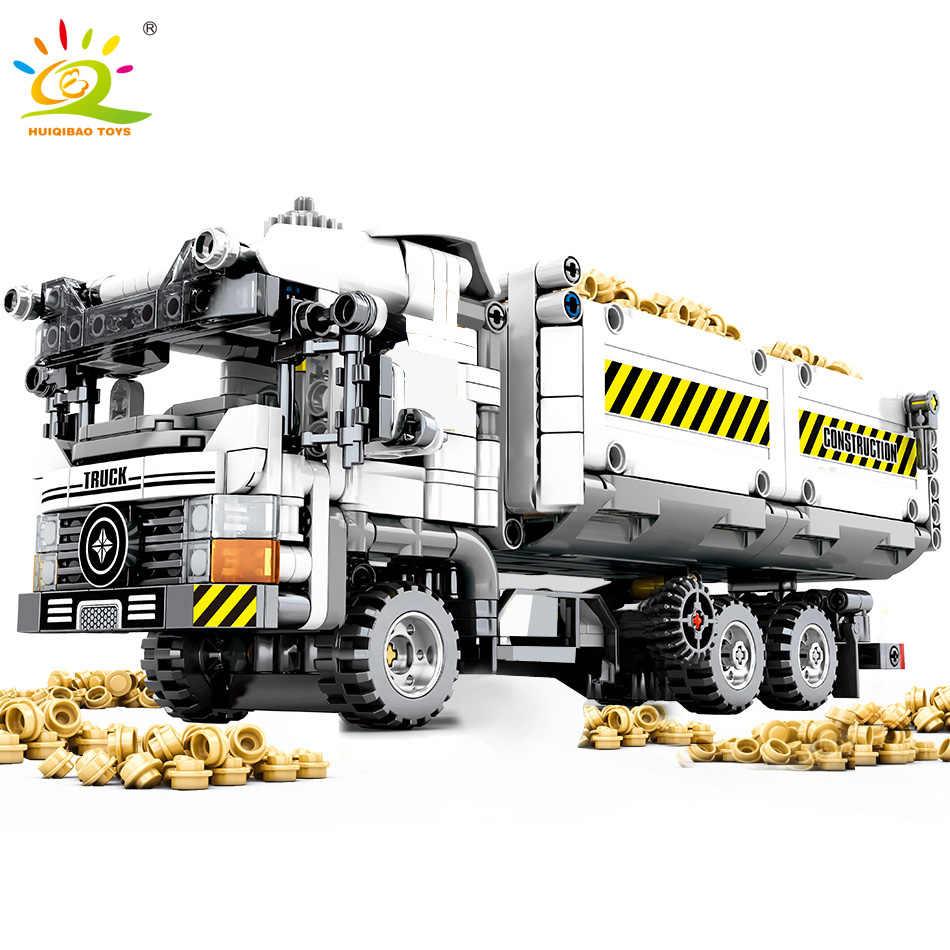 799 шт. Technic Engineering Truck строительные блоки Совместимость с legoingly автомобиль кирпичи развивающие DIY игрушки для детей мальчиков