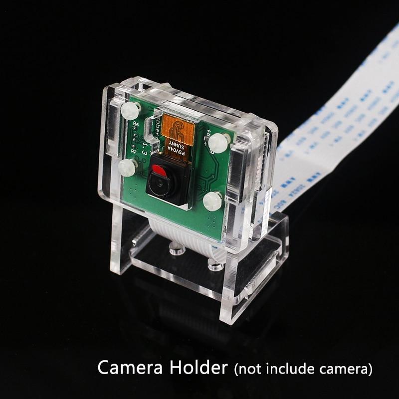 Raspberry Pi 3 Model B Plus Camera Case Support Transparent Acrylic Bracket For OV5647 Raspberry Pi Official V2 Camera