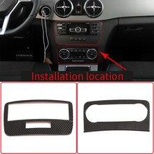 Para mercedes benz glk x204 2013-2015 controle central do carro interruptor de ar condicionado painel modo voz botão guarnição quadro adesivos