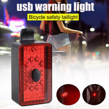 Bicycle USB Warning Light Tail Light Waterproof Night Riding Road Mountain Bike Tailight for Bicycle Scooters Mountain Bikes cheap CAR-partment Bicycle Lights Wheel Spokes Battery