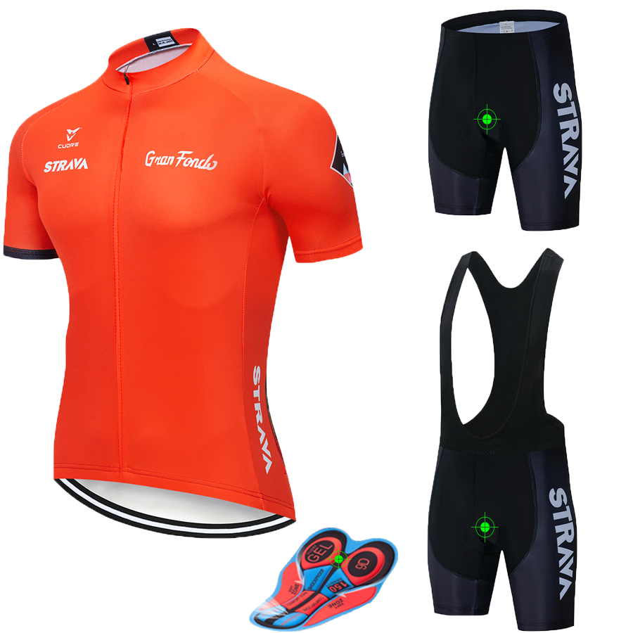 2019 STRAVA Conjunto Camisa de Ciclismo de Verão Mountain Bike Roupas Pro Bicicleta Sportswear Camisa de Ciclismo Terno Maillot Ropa ciclismo
