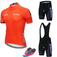 2019 STRAVA Ciclismo Jersey conjunto verano bicicleta de montaña Ropa Pro bicicleta Ciclismo Jersey Ropa deportiva traje Maillot Ciclismo