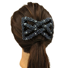 Grânulos de acrílico modelagem de cabelo pente pentes de cabelo senhoras estilo dupla linha bobina de cabelo unidade pente mágico cabeleireiro