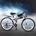 26 дюймов складной литиевая батарея электрического велосипеда 350 Вт постоянного тока для взрослых бездорожье горный велосипед с переменной ...