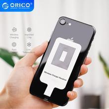 オリコチーワイヤレスチャージャーレシーバー iphone ワイヤレス充電レシーバーマイクロ usb タイプ c 電話
