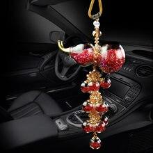 Genel amaçlı araba kolye kristal kabak tasarım araba kolye High-end araba iç dekorasyon malzemeleri