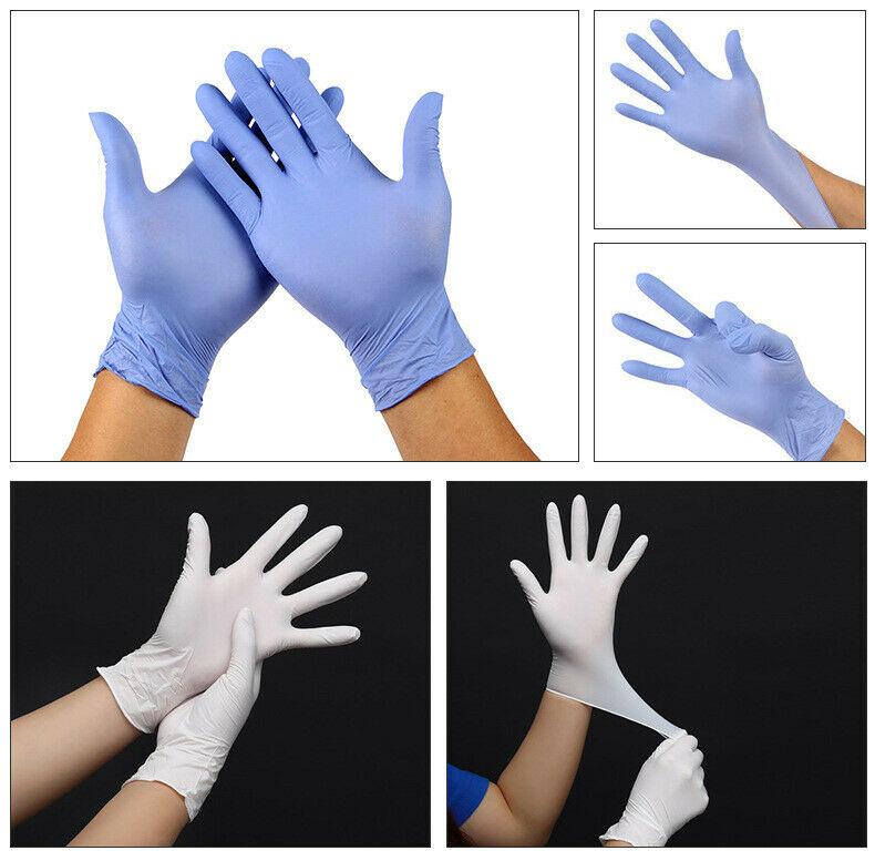 100 Pcs / Box Disposable Sterile Gloves Comfortable Rubber M L XL