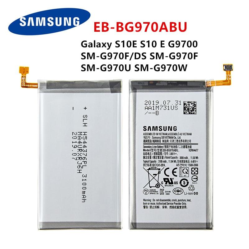 SAMSUNG Orginal EB-BG970ABU 3100mAh Battery For Samsung Galaxy S10E S10 E G9700 SM-G970F/DS SM-G970F SM-G970U SM-G970W