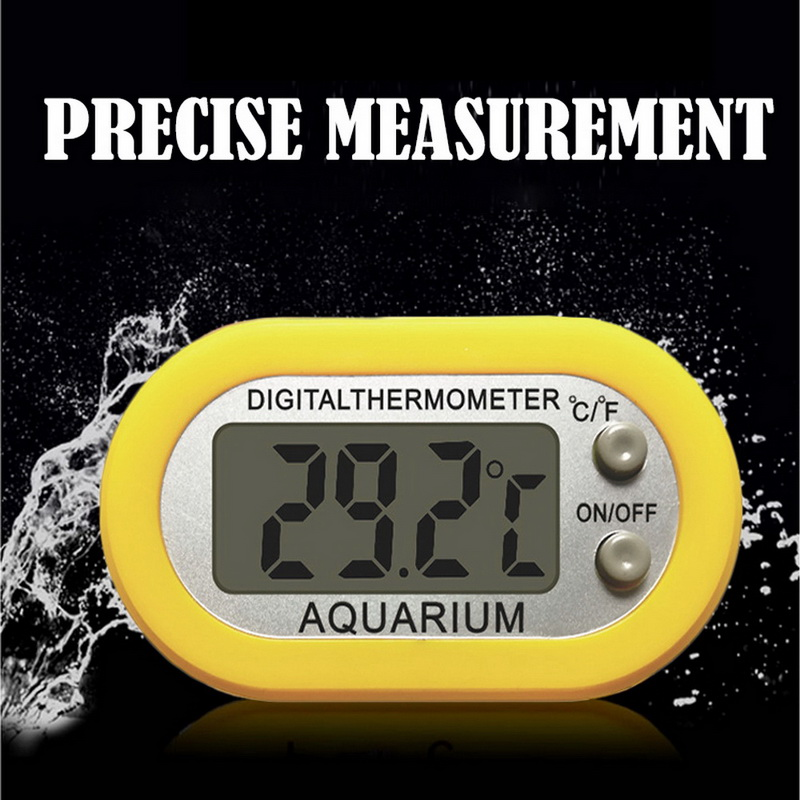 Digital Aquarium Thermometer Fish Tank Water Temperature Monitor Gauge Waterproof LCD Digital Fish Tank