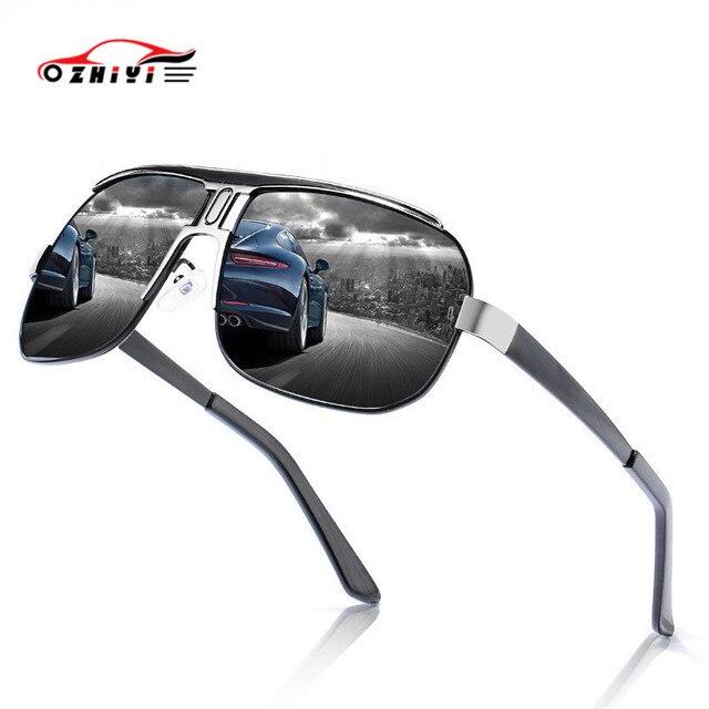 Zhiyi防眩駆動ゴーグル偏男性のサングラス抗uv oculos屋外サイクリングスポーツサングラス