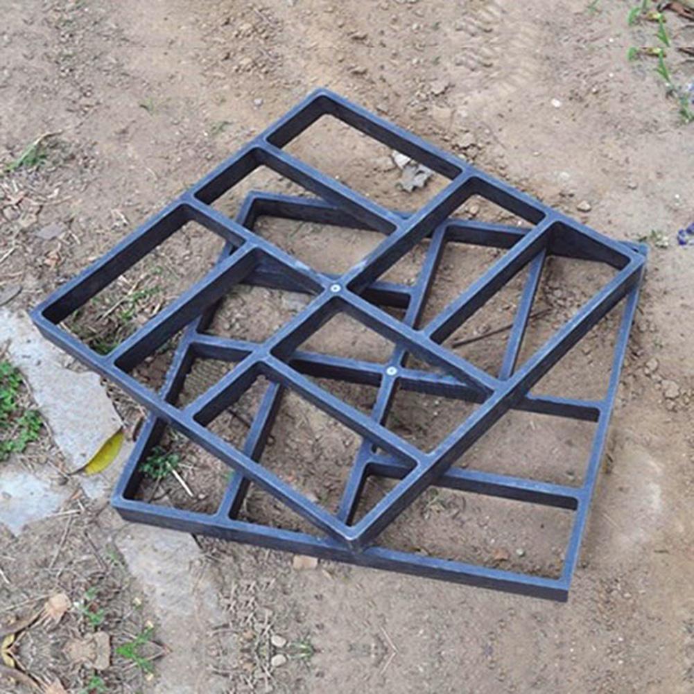Black Plastic Making DIY Pavement Mold Home Garden Floor Road Concrete Stepping Driveway Stone Path Mold Patio Maker Gardening