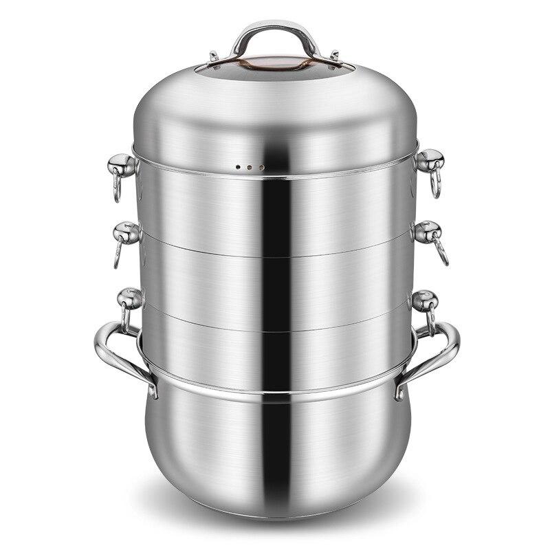 304 chaudières en acier inoxydable 4 couches pot à vapeur pot chaud soupe instantanée pot accessoires fond composé vapeur en acier inoxydable