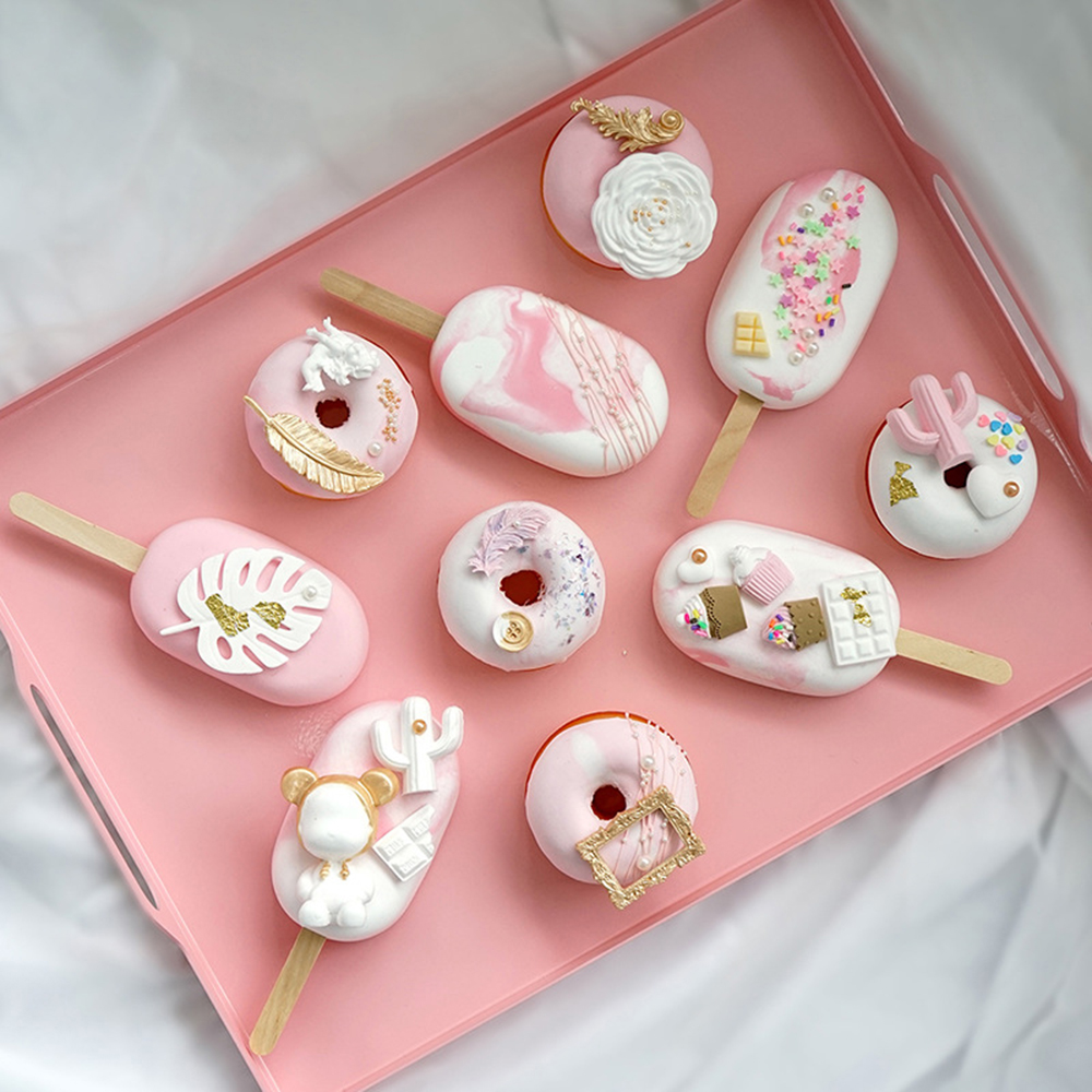 New Artificial Ice Cream Cake Simulation Donut Fake Window Decoration Fake Snack Ice Cream Donut Dood Photographi Prop