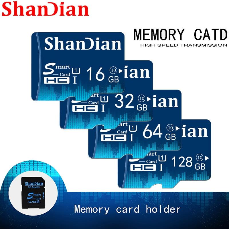 SHANDIAN Smart SD Card 32GB 16GB Memory Card 8GB 4GB Real Capacity Smartsd Class 6 Smartsd TF Card High Speed For Phone Camera