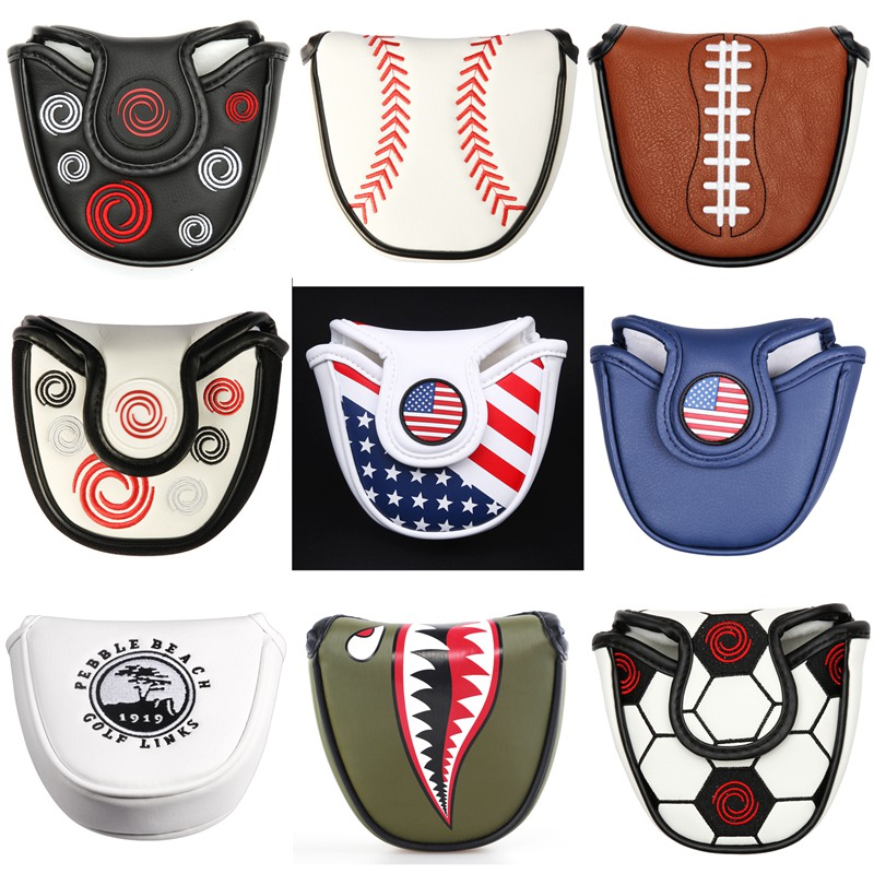 Magnetic Closure Customized Golf Mallet Putter Covers Headcover Synthetic Leather Multi Style Color
