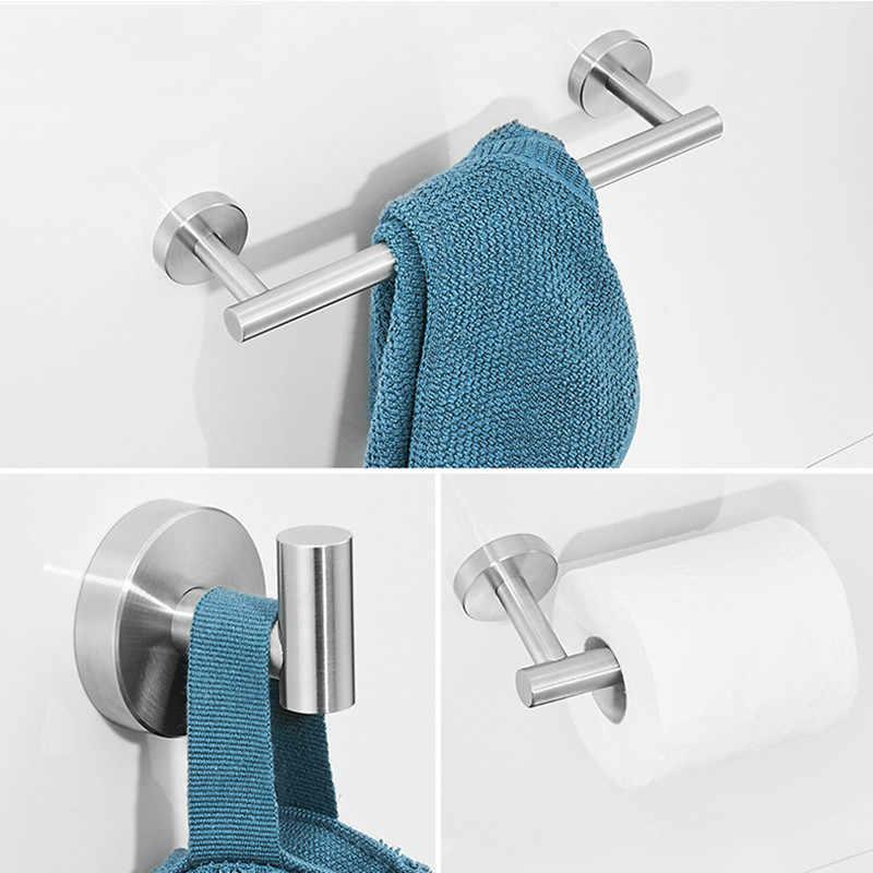 SUS304 noir salle de bain ensemble de matériel porte-serviettes porte-peignoir porte-papier hygiénique crochet en acier inoxydable or salle de bain accessoires