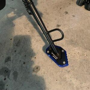 Image 2 - SUZUKI için V STROM 650/XT VSTROM 650 DL650 2004 2020 motosiklet CNC Kickstand ayak yan ayak uzatma Pad destek plakası