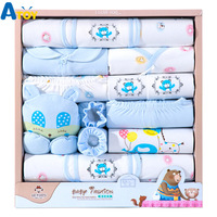 Newborn Baby Gift 18 Pieces Set Clothes 100% Cotton Infant Suit Baby Clothes Outfits Pants Baby Clothing Hat Bib Ropa De Bebe