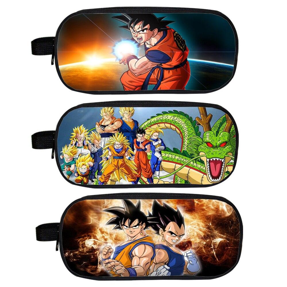 Anime Dragon Ball Cosmetic Cases Sun Goku Pencil Holder Boys School Case Kids Cases Cartoon Makeup Bag Material Escolar Lapices