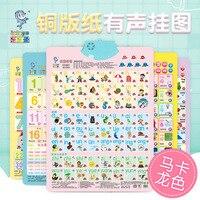 Leleyu аудио диаграмма раннее образование удар обучающая игрушка полный набор 17-
